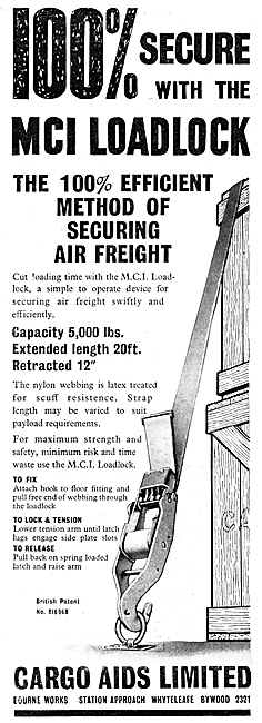 Cargo Aids. MCI Loadlock Air Freight Securing System