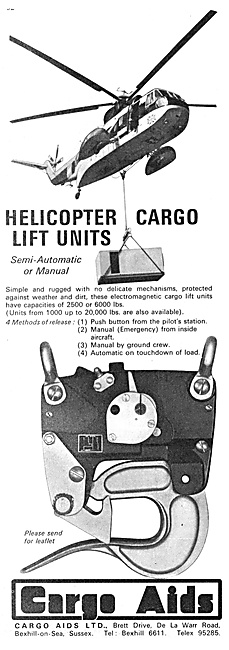 Cargo Aids Helicopter Lift Units