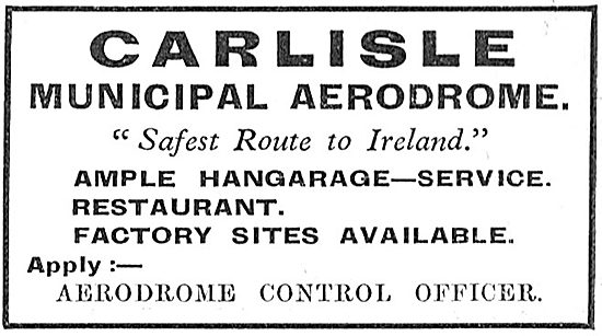 Carlisle Municipal Aerodrome - Facilities