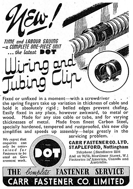 Carr Fasteners  Dot Fasteners & Tube Clips