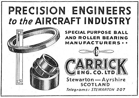 Carrick Engineering Precision Engineers To The Aircraft Industry