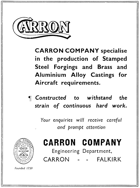 Carron Stamped Steel Forgings & Aluminium Alloy Castings