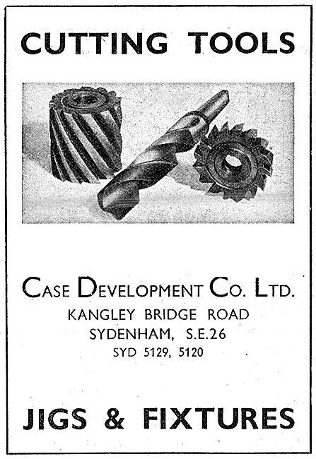 Case Development. Cutting Tools, Jigs & Fixtures