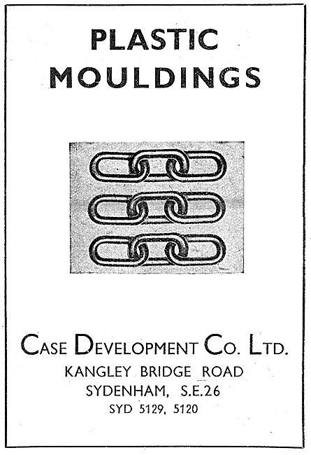 Case Development. Sydenham. Plastic Mouldings 1943 Advert