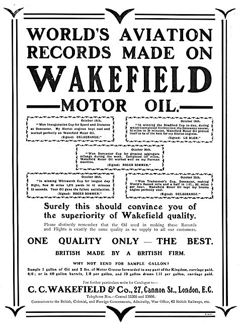 C.C.Wakefield and Co Motor Oil Castrol