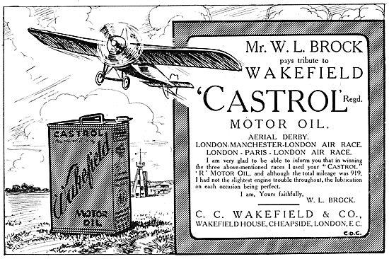 Wakefield Castrol Motor Oil 1914