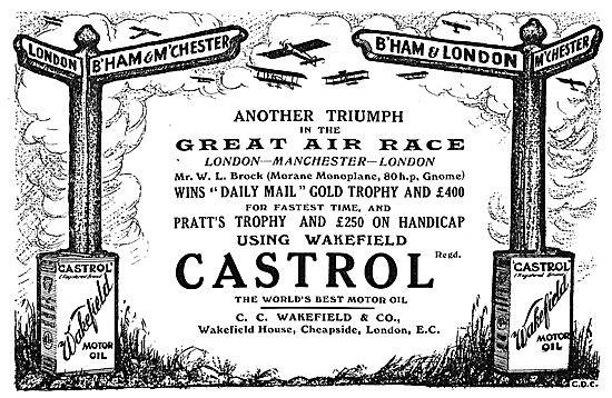 W.L.Brock Wins Daily Mail Gold Trophy On Castrol...