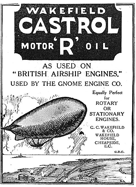 Castrol R Motor Oil As Used On British Airship Engines