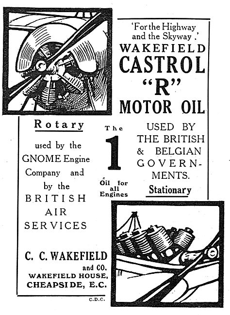 Castrol R Used By The British & Belgian Governments