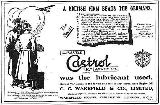 Castrol - A British Firm Beats The Germans