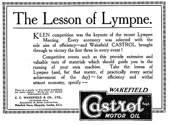 Castrol Oil & The Lesson Of Lympne