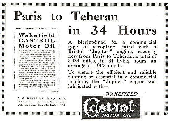 Paris To Teheran In 34 Hours On Castrol - Bleriot-Spad 56