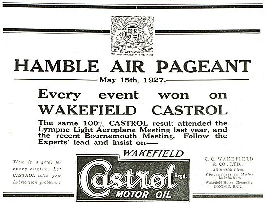 Every Event At The Hamble Air Pageant Won On Wakefield Castrol