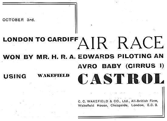 Castrol Aero Oils - London Cardiff Air Race