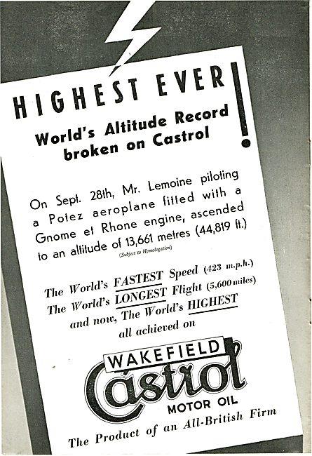Castrol Altitude Record Lemoine Potez