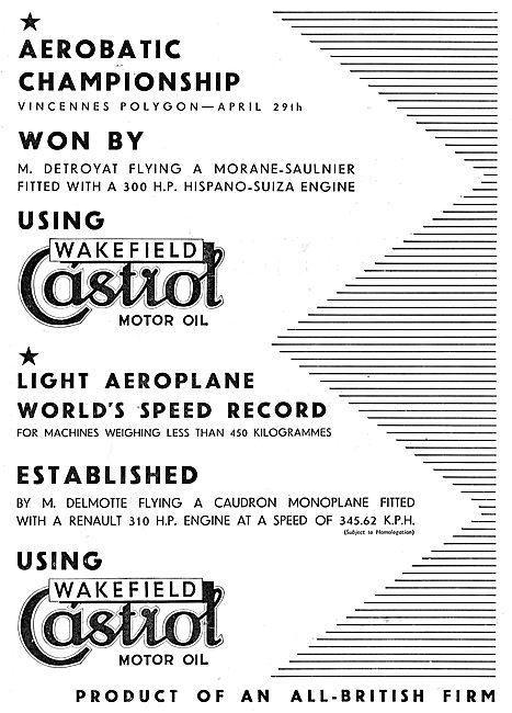 Aerobatics Championships Won By M.Detroyat Using Castrol
