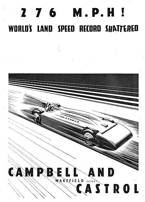 Castrol : Campbell World Land Speed Record 276  MPH
