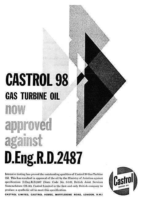 Castrol 98 Gas Turbine Oil. D.Eng.RD.2487