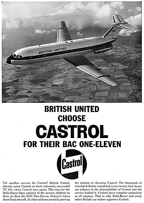Castrol Aviation Lubricants 1965