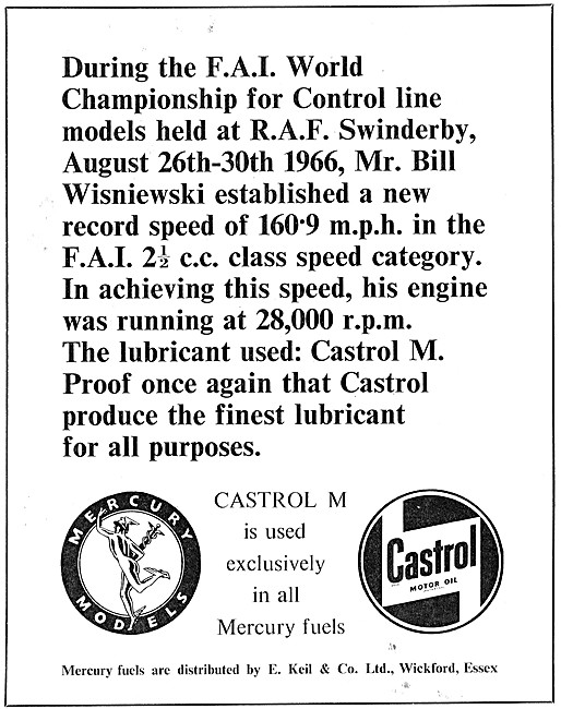 Castrol M Lubricant For Aeromodellers