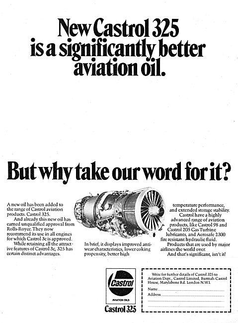 Castrol 325 Aviation Oil
