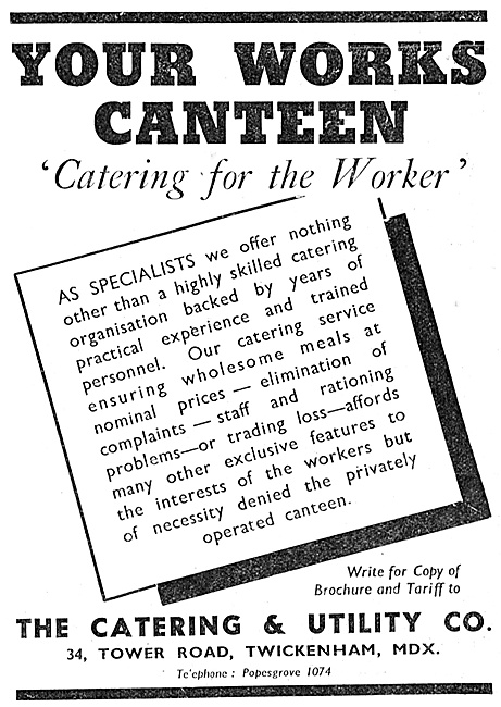 The Catering & Utility Company. Factory Catering