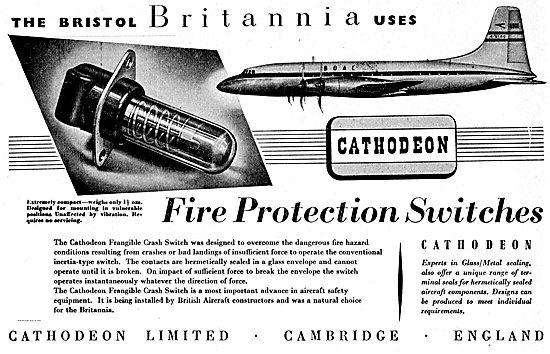 Cathodeon Frangible Aircraft Crash Switch