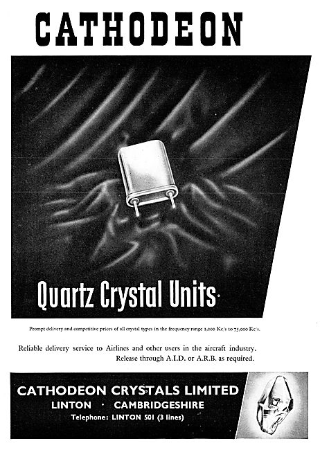 Cathodeon Quartz Crystal UNits For Aircraft Radios