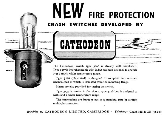 Cathodeon Type 1377 Fire Protection Crash Switches