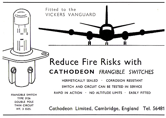 Cathodeon Frangible Switches