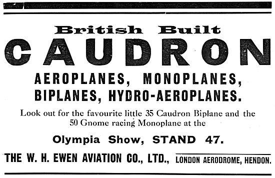 Caudron Aeroplanes 1913 - W.H.Ewen Aviation
