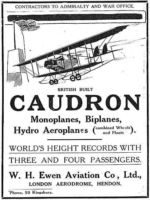 Caudron Hydroplanes Have Combined Wheels & Floats