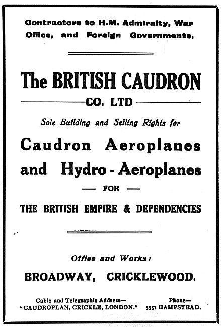 British Caudron Aeroplanes & Hydroplanes