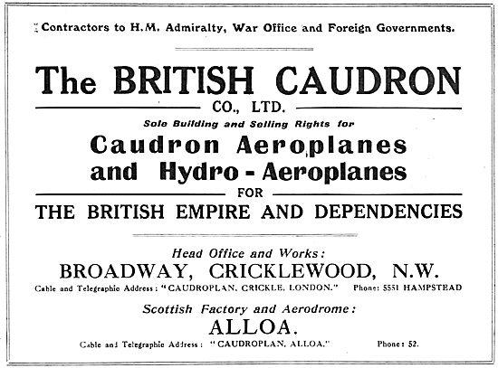 Caudron Biplanes & Monoplanes & Hydro Aeroplanes