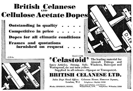 British Celanese Cellulose Acetate Dopes