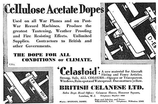 British Celanese Aeroplane Dopes & Varnishes
