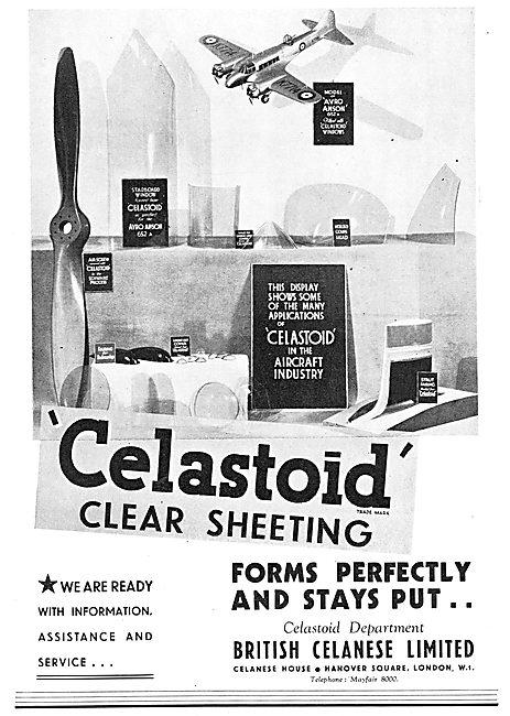 British Celanese Celastoid Clear Sheeting