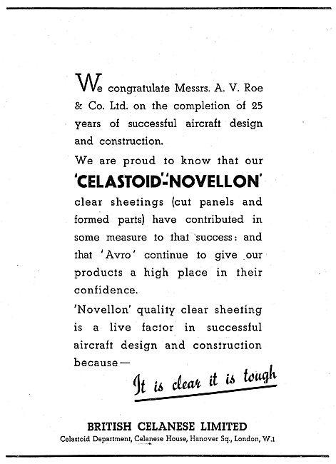 British Celanese Novellon Acetate Sheeting - Celastoid