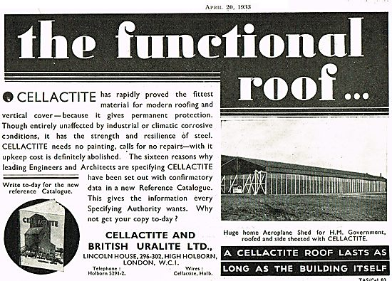 Cellactite For Hangar Roofs