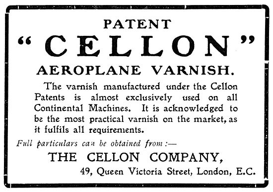 Cellon Aircraft Dope, Varnish, Paints & Finishes