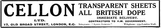 Cellon Transparent Sheets - All British Aeroplane Dope