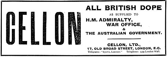 Cellon Dope- As Supplied To HM Admiralty & The War Office