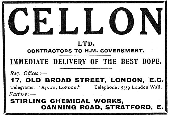 Cellon Aeroplane Dope - Canning Road Stratford London E