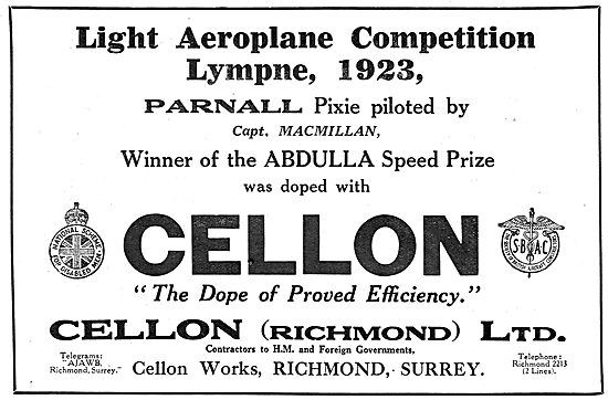 Lympne - Prize Winning Parnall Pixie Doped With Cellon