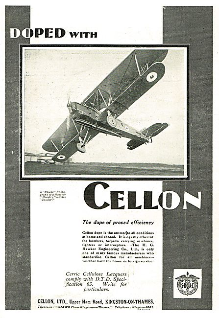 Cellon Dope Used On Hawker Horseley's