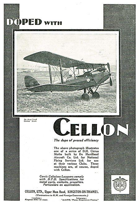 NFS' De Havilland Cirrus Moths Are Doped With Cellon