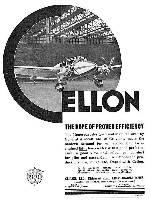 Cellon General Aircraft Monospar