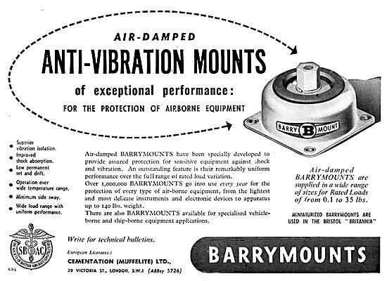 Cementation Muffelite Barrymounts - Anti-Vibration Mounts