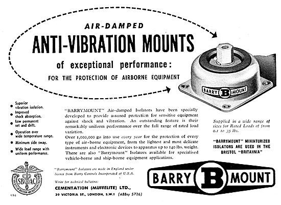 Cementation Barrymounts Anti-Vibration Mountings