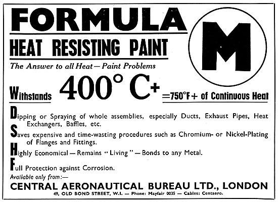 Central Aeronautical Bureau - M Formula Heat Resisting Paint